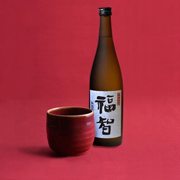 本格麦焼酎「福智」&上野焼酎杯セット(赤/辰砂)