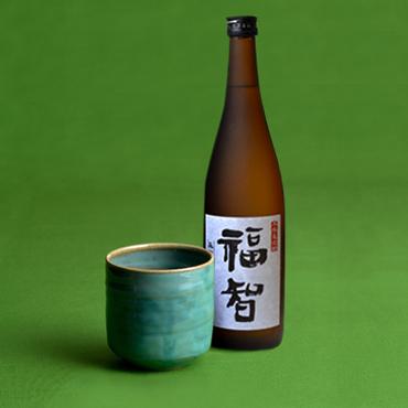本格麦焼酎「福智」&上野焼酎杯セット(緑/総緑)