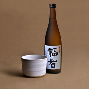 本格麦焼酎「福智」&上野焼酎杯セット(白/藁白)
