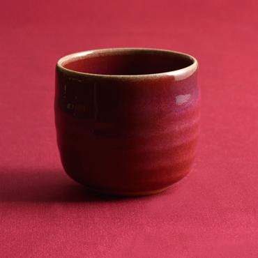 上野焼 酎杯(赤/辰砂)