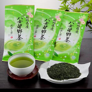 八女星野深蒸し茶(3本詰め)