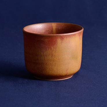 上野焼 酎杯(茶/鉄釉)