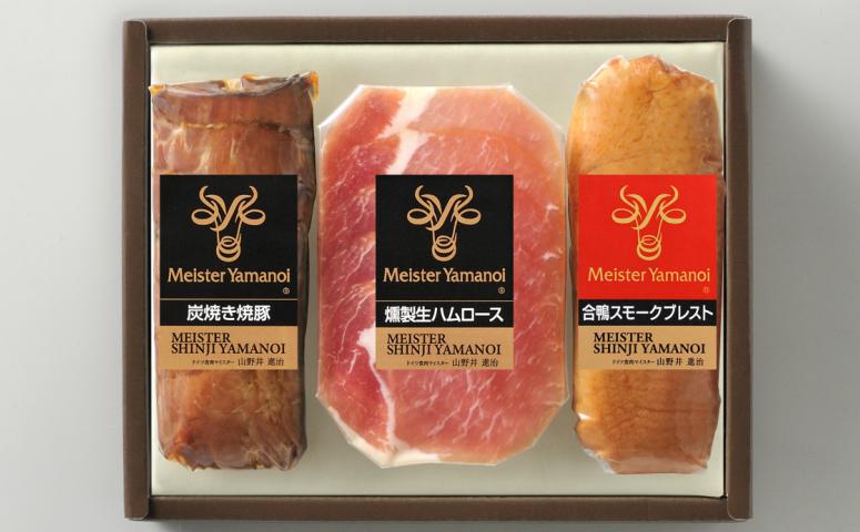 ■マイスター山野井 炭焼き焼豚と合鴨セット[YDM31]